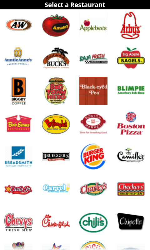 Fast Food Restaurants List