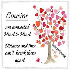 Happy Birthday wishes for cousin: are connected heart to heart distance and time can't break them apart