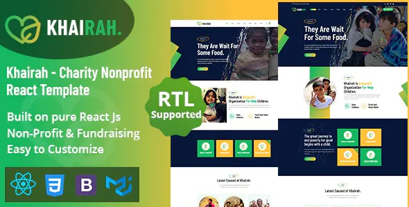 Best Charity Nonprofit React Template