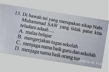 Pelecehan terhadap Nabi Muhammad SAW Terjadi Melalui Soal Ujian SD di Solok