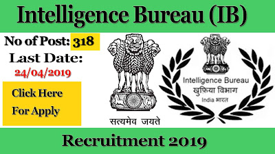 IB Recruitment, IB vacancy 2019, Intelligence Bureau recruitment, Intelligence Bureau vacancy 2019, Government job, sarkari job, IB vacancy,