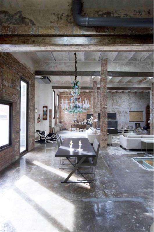 loft de estilo industrial en Barcelona chicanddeco