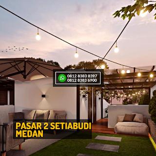 Roof Top 1 Malam Hari Rumah Cantik Mewah Berkualitas di Pasar 2 Setiabudi Ringroad Medan - Twin Luxury