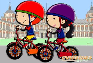 Niños Bicicleta Dibujo Aranjuez