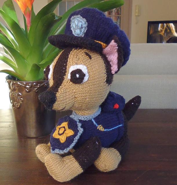 Du tricot et des jouets chase pat patrouille - Pas de patrouille ...