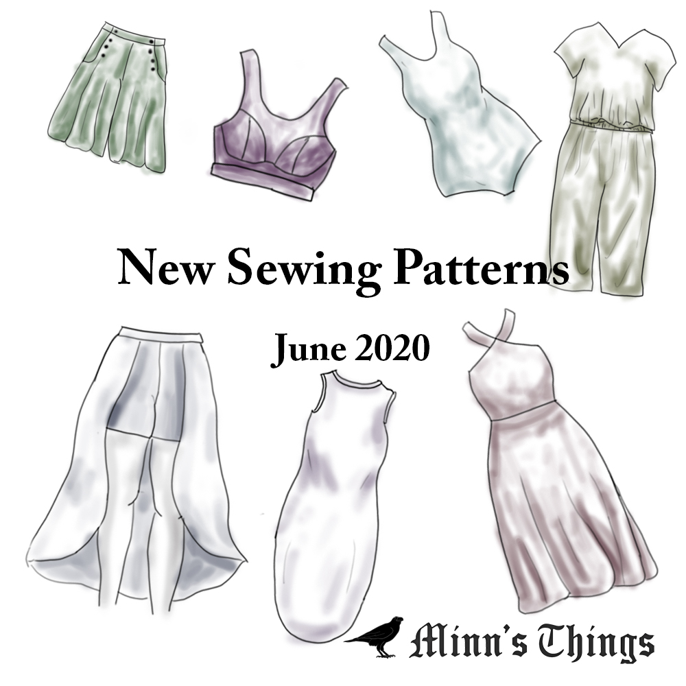 list of new update sewing patterns indie designer june 2020 current releases minn's things