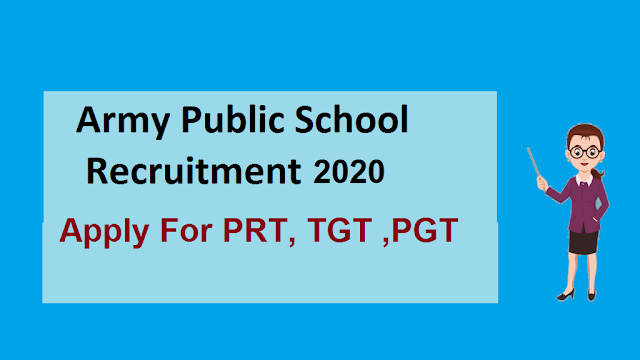 Army School TGT PGT PRT  Recruitment 2020