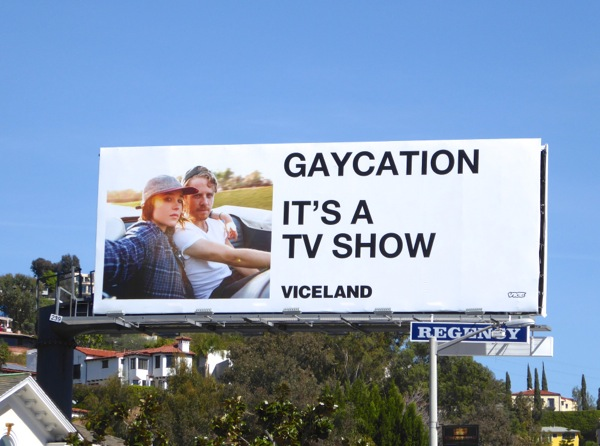 Ellen Page Gaycation TV show billboard