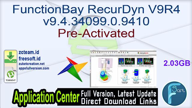 FunctionBay RecurDyn V9R4 v9.4.34099.0.9410 Pre-Activated