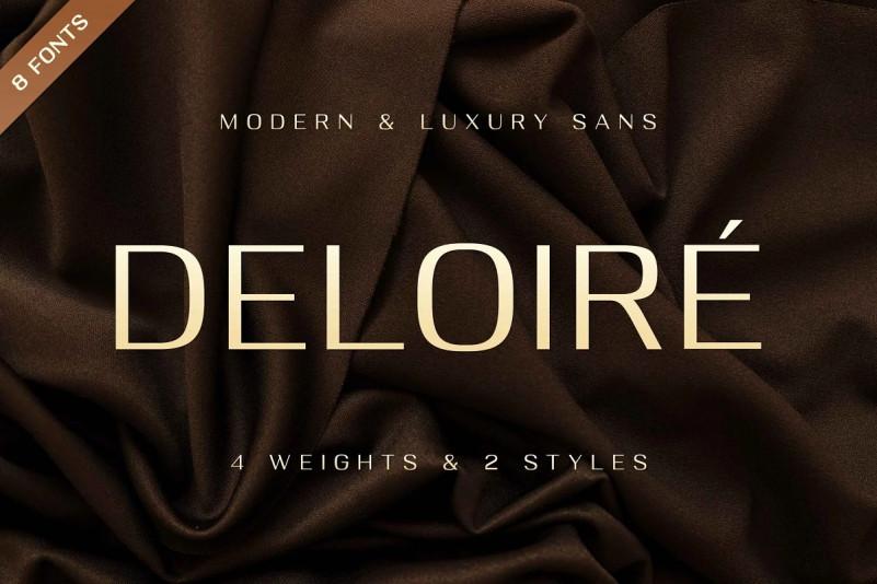 Deloire Font - Free Geometric Sans Serif Typeface