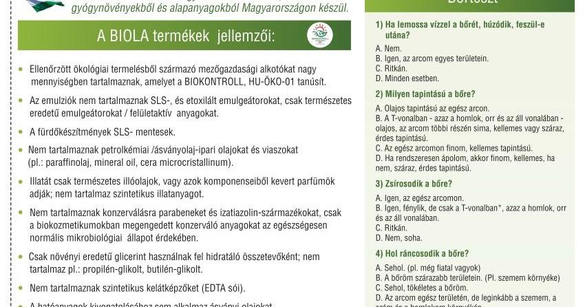 öko karcsú jellemzők)