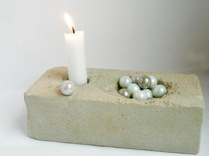 Kerzenhalter aus Beton gegossen