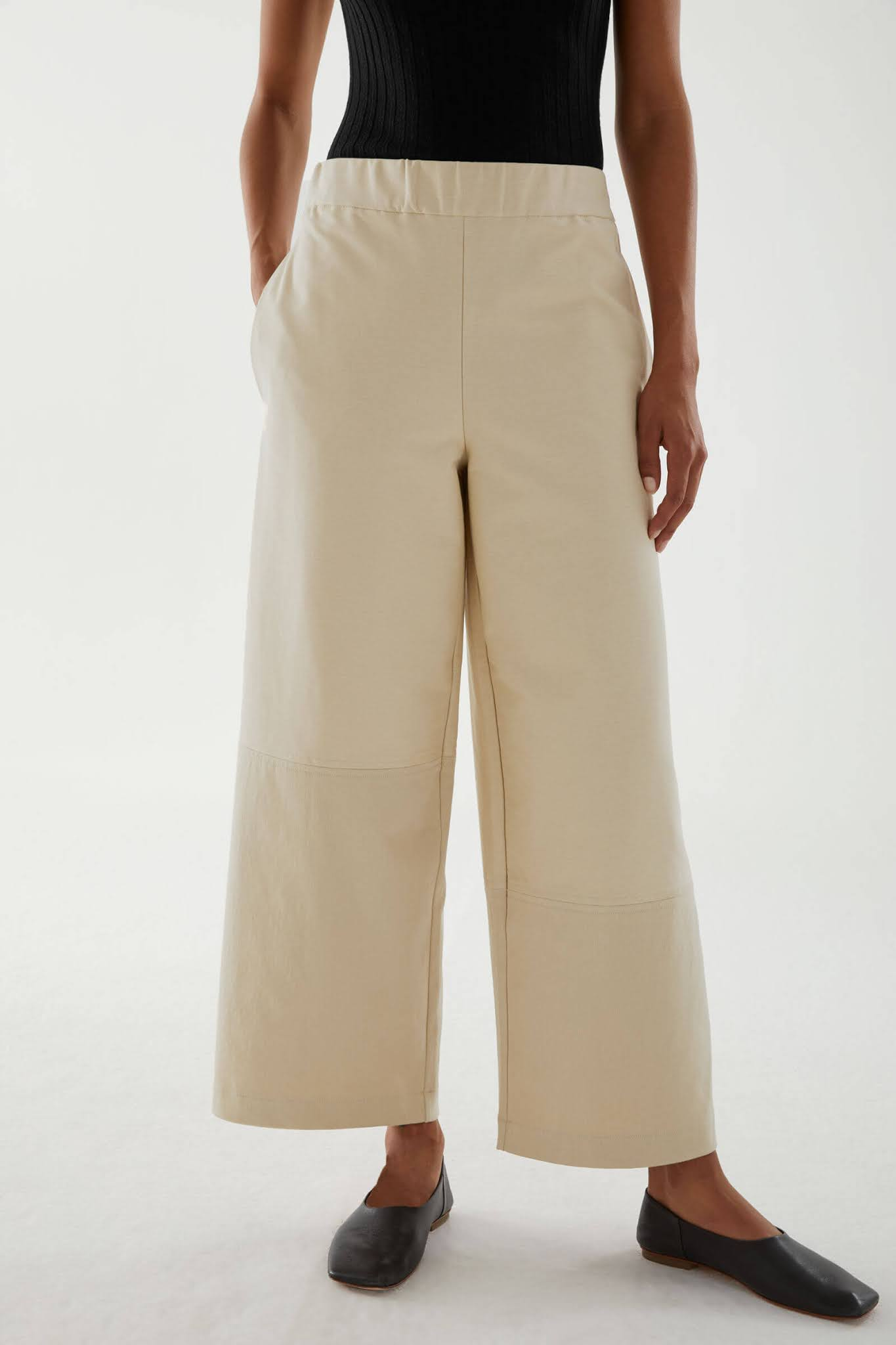 relaxed cotton twill pants