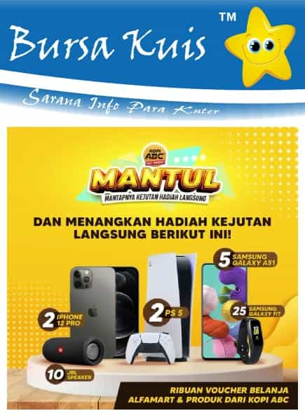 Kuis Online Promo Kopi ABC Mantap Betul Berhadiah iphone 12 Pro