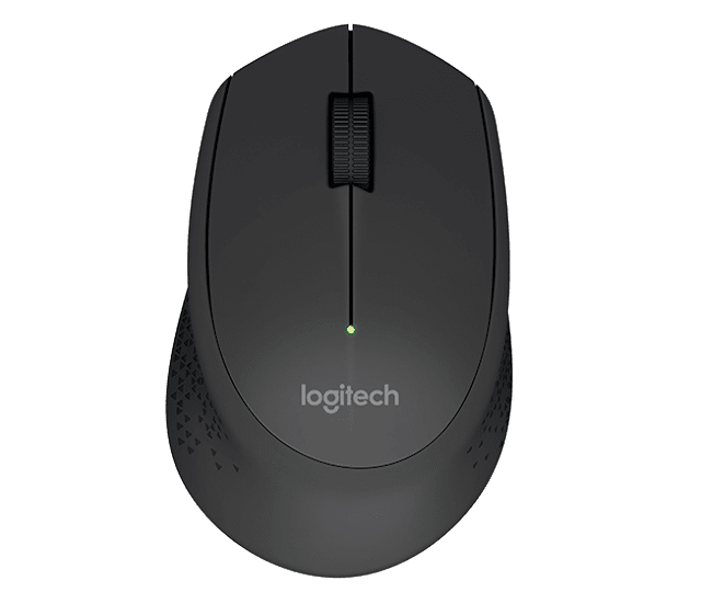 Mouse wireless Logitech hitam modern