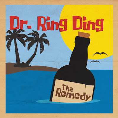 The cover illustration features a cartoony bottle of rum floating in the ocean with a small island with palm trees in the background.