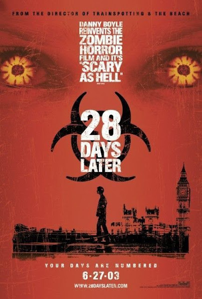 Poster Of 28 Days Later 2002 720p UnRated BRRip Dual Audio Full Movie Download