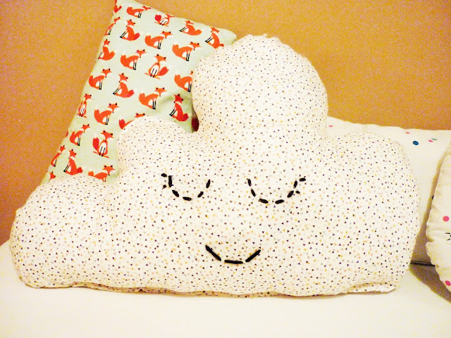DIY coudre un coussin nuage - sewing cloud cushion
