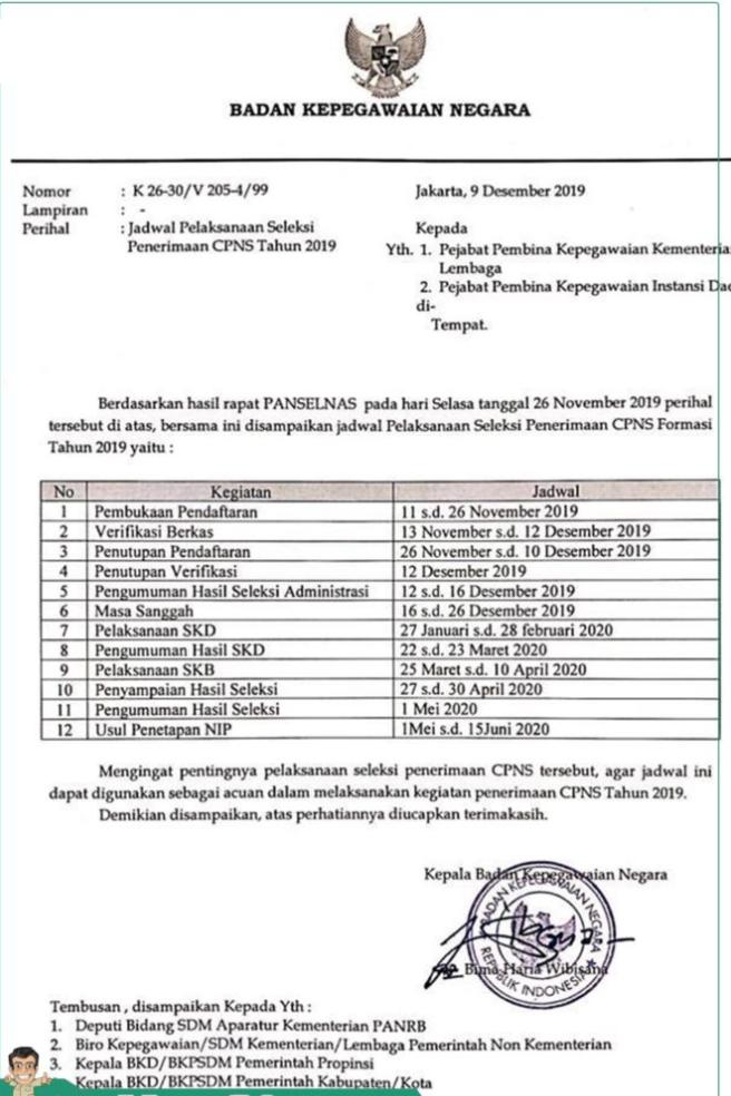 Informasi Jadwal Tahapan Pelaksanaan SKD CPNS 2019/2020