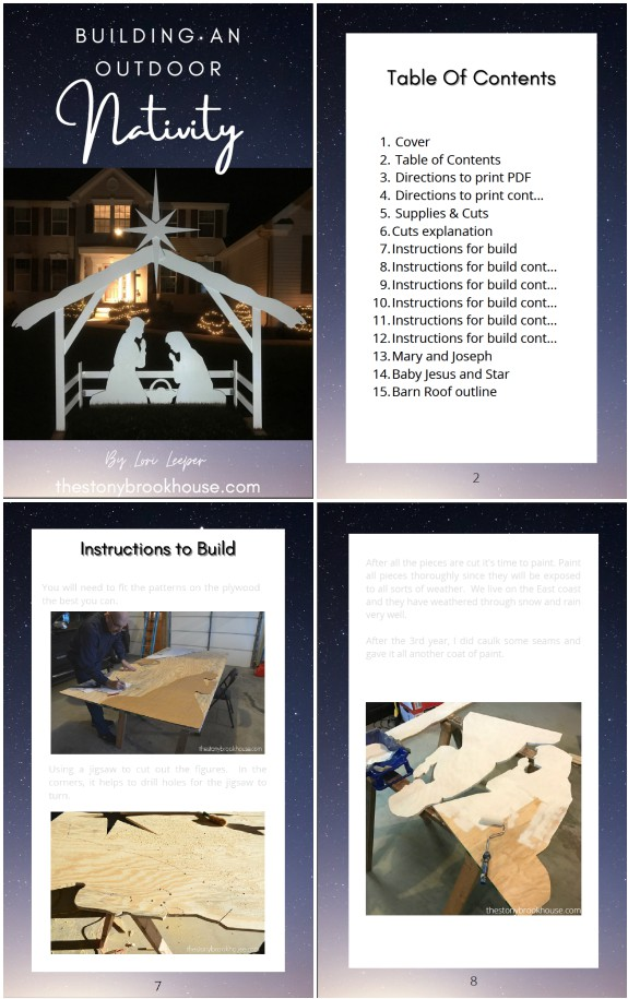 Building An Outdoor Nativity Ebook Snapshot