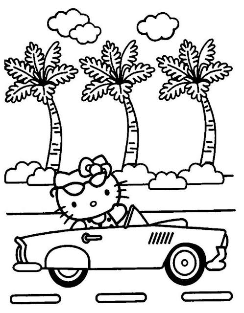 Gambar Mewarnai Hello Kitty - 8