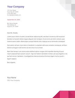 Geometric cover letter template google docs