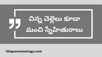 Brother And Sister Quotes In Telugu