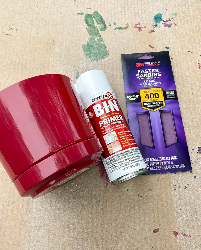 Dollar Tree plastic planter and painting supplies