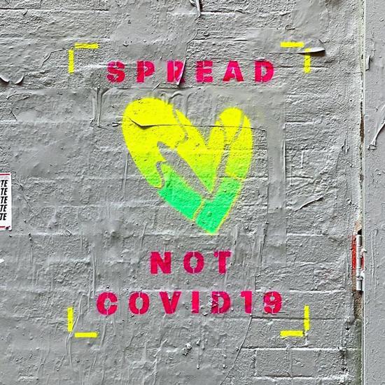 graffiti covid spread love