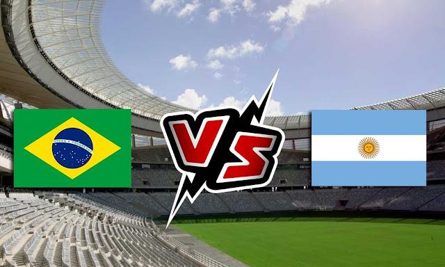 البرازيل والأرجنتين بث مباشر