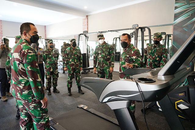"""Peduli Kesehatan Prajurit, Pangdam IV/Diponegoro Resmikan """"Warastra Fitness Center"""""""