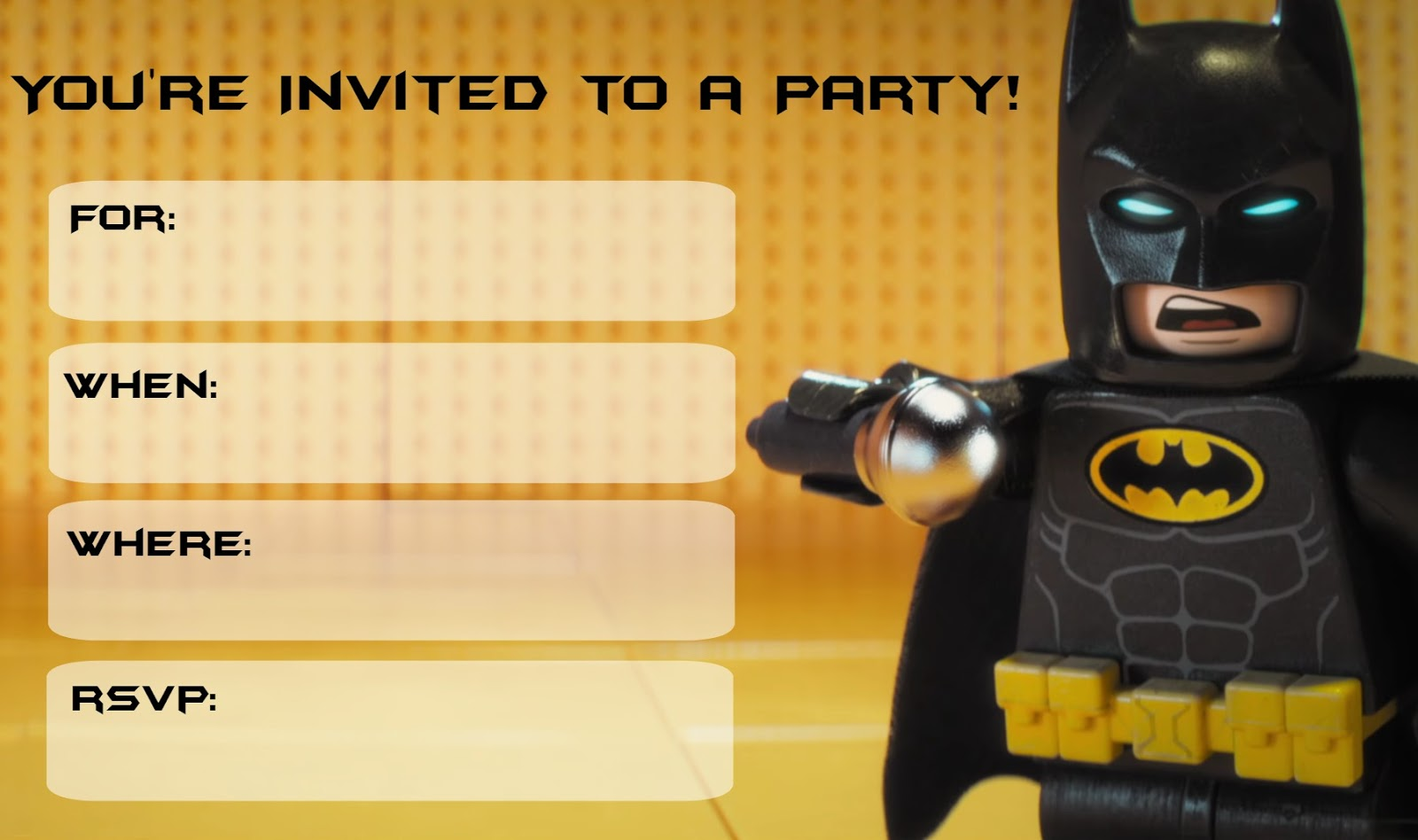 Musings of an Average Mom: Lego Batman Movie Party Invitations