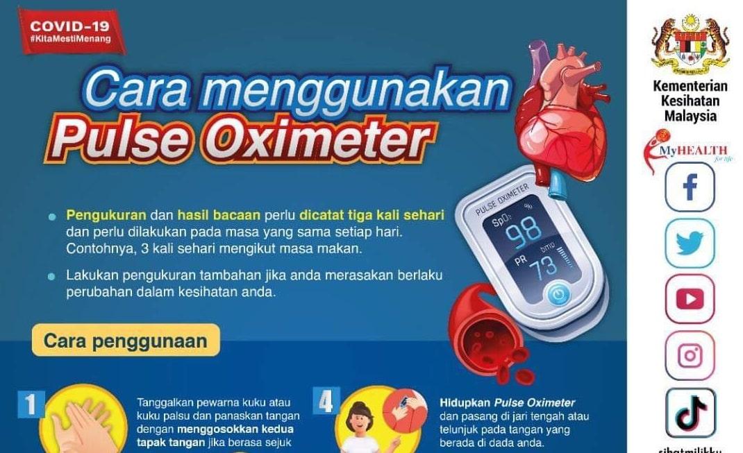 cara guna pulse oximeter kkm