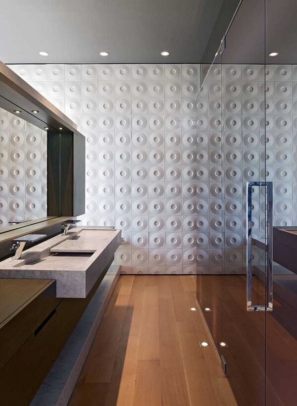 3D bathroom tile attract attention