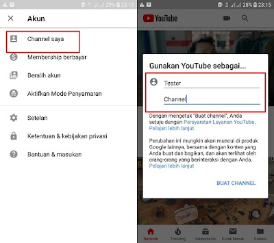 Cara Membuat Channel Youtube di Android