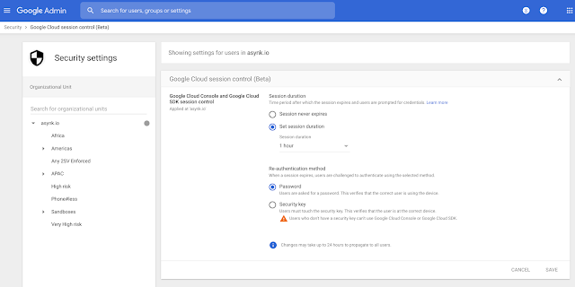 Exempt specific apps from session length policy in Google Workspace 1