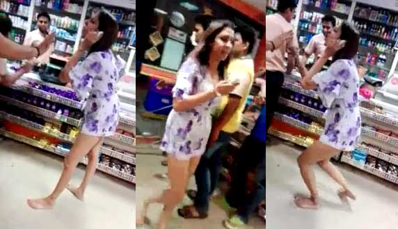 Pooja Mishra, Pooja mishra fighting, Karol bagh store, Bigg Boss, Pooja mishra fighting in Karol bagh store, Pooja mishra fighting Video, Video video of Pooja Mishra