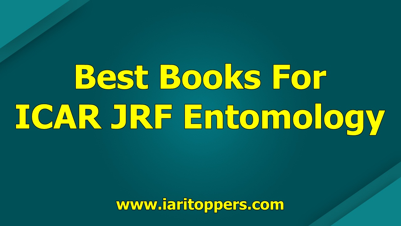Best Books For ICAR JRF Entomology