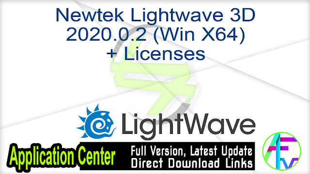 Newtek Lightwave 3D 2020.0.2 (Win X64) + Licenses