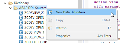 ABAP on HANA – Step by step procedure to create a CDS view using input parameters to display multiple records.