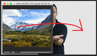 hapus latar belakang green screen di photoshop