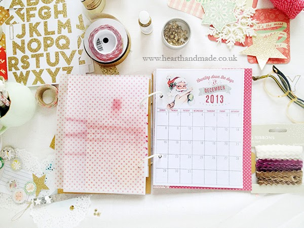 Polka dot vellum by Dear Lizzy and christmas calendar