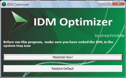 تسريع التحميل من برنامج Internet download manager عن طريق برنامج IDM Optimizer