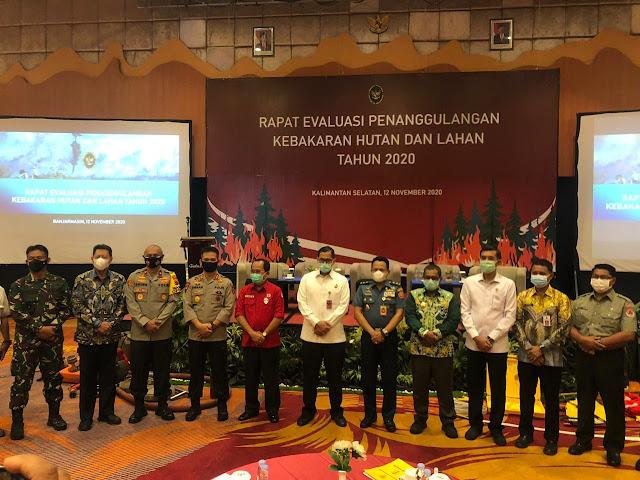 Kapolda Jambi Hadiri Rapat Evaluasi Penanggulangan Karhutla Tahun 2020 Di Banjarmasin