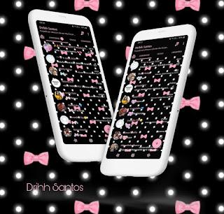 Black Lacos Pink Theme For YOWhatsApp & Fouad WhatsApp By Driih Santos