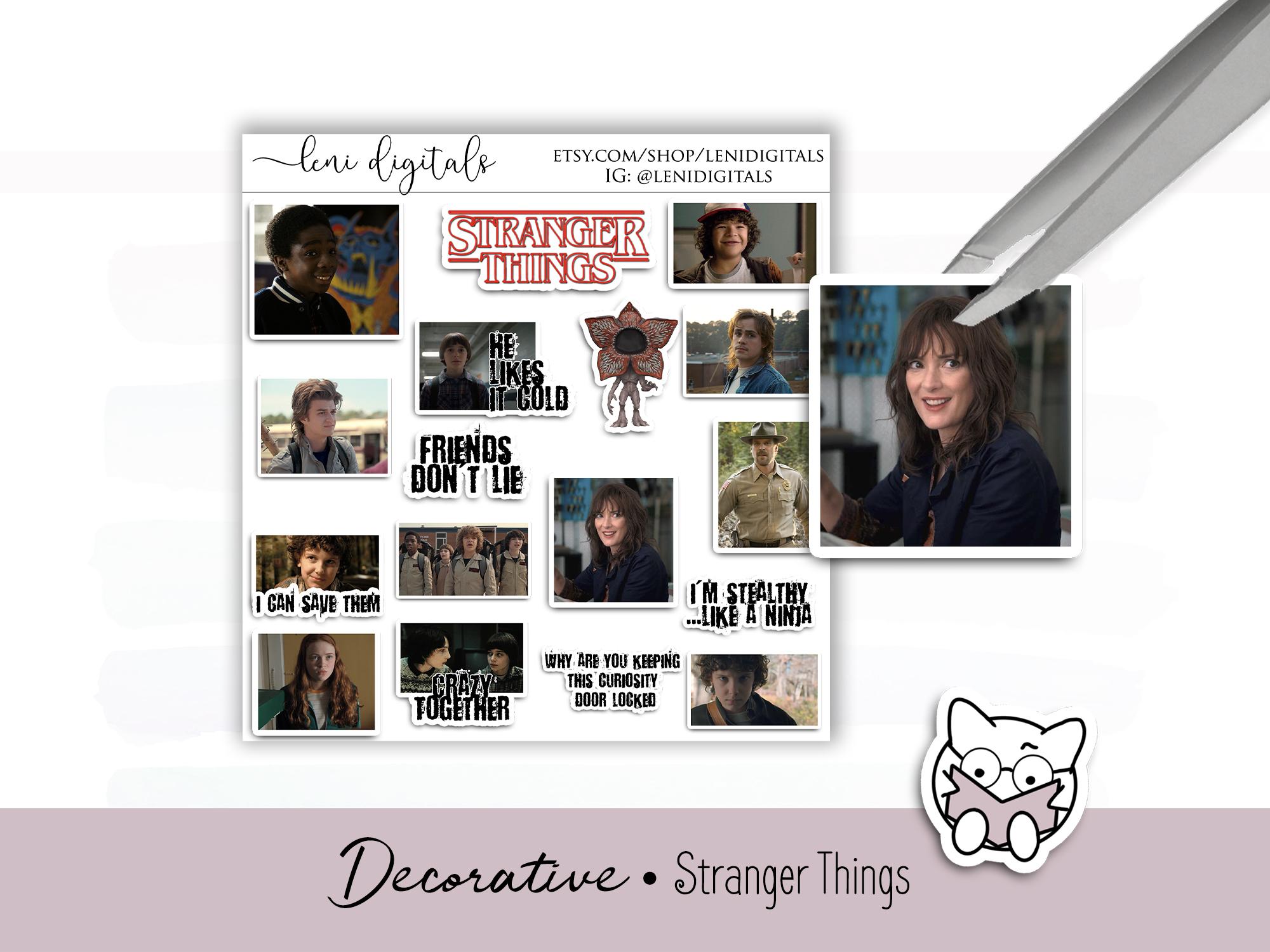 Stranger Things free digital planner decor download by Leni Digitals