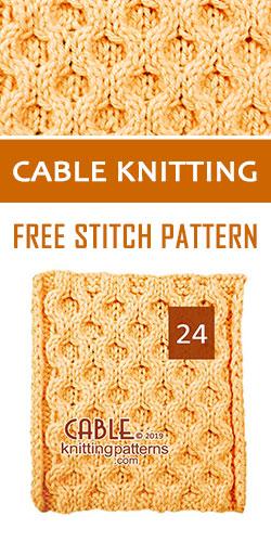Cable Knitting Free Stitch Pattern 24