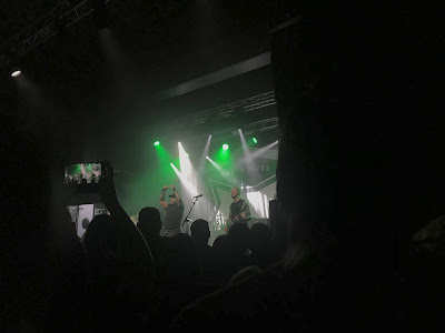 bad wolves on stage in manchester