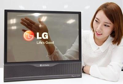 Layar tampilan transparan OLED dar LG