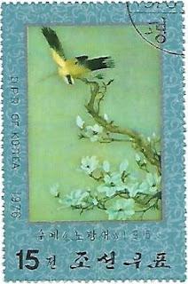 Selo Arte com pássaros
